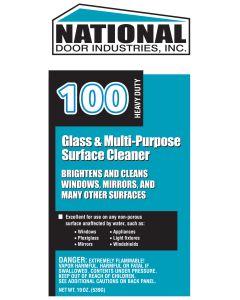 #100 National Door Glass Cleaner - 19oz Aerosol (Aqua)