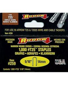 #T25916 9/16 Staples for T-25 Stapler-5000 per box