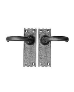 CDH-LE  Set Hammered Iron Deco Handle w/Escutcheon