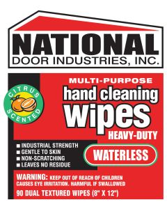 HW-90 National HD Hand Cleaning Wipes 90 ct 10x12
